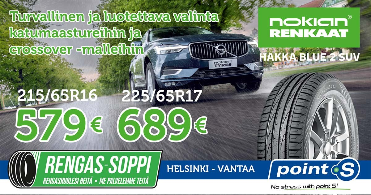 Nokian Hakka Blue 2 SUV | ELÄMÄSI MIELYTTÄVÄLLÄ MATKALLA