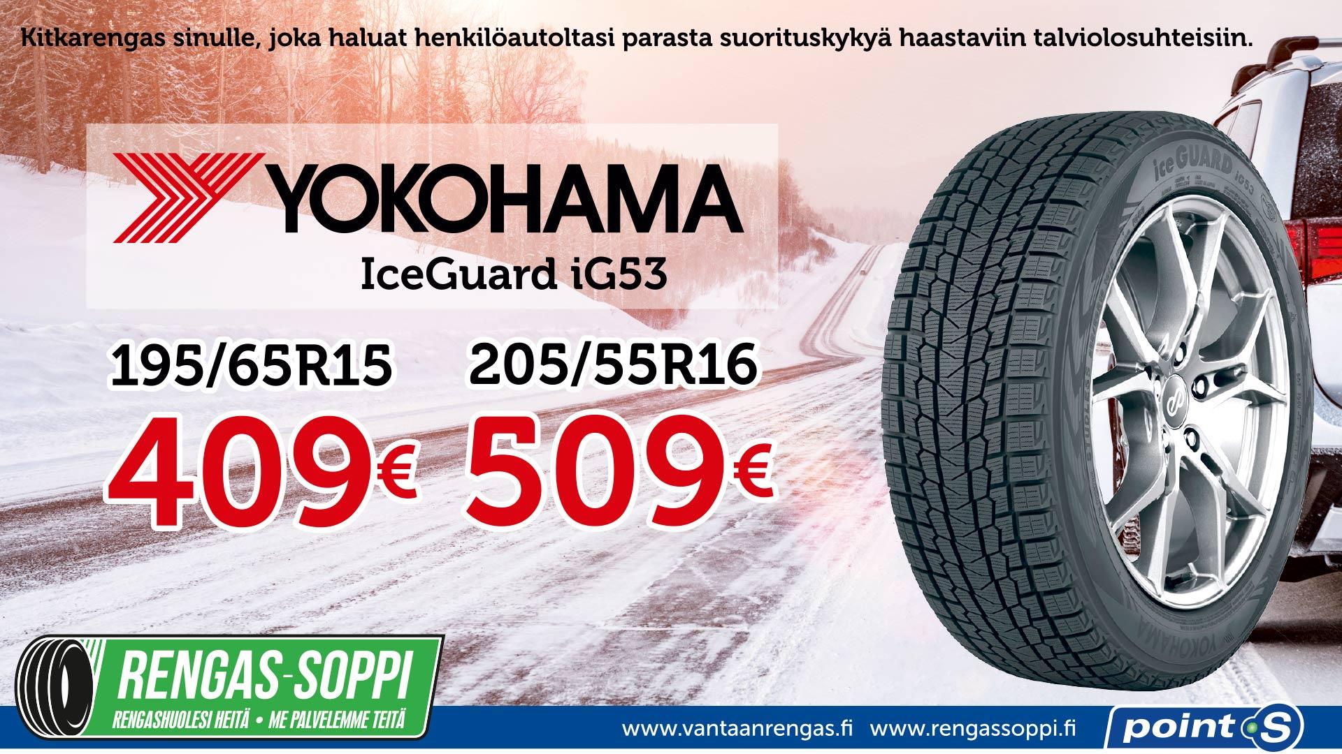Yokohama IceGuard iG53 | Yllättäjä