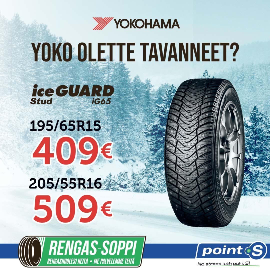 YOKOHAMA IceGuard iG65 | YOKO OLETTE TAVANNEET?