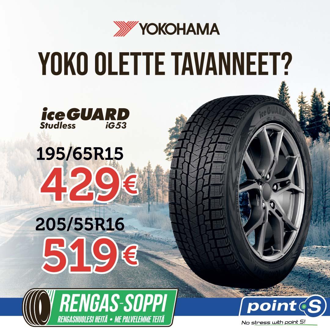 YOKOHAMA IceGuard iG53 | YOKO OLETTE TAVANNEET?